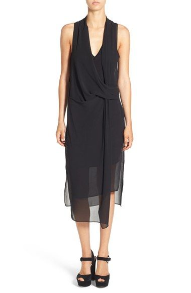 Free shipping and returns on ASTR Gathered Front Layer Dress at Nordstrom.com. A sheer chiffon overlay twists atop a little black slipdress, adding dramatic drape and tonal texture to this romantic frock.