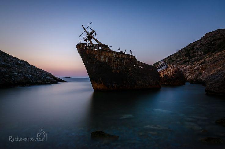 Shipwreck of Olympia - THE BIG BLUE MOVIE! Amorgos island Greece