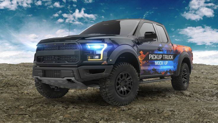 Pickup Truck Mock Up Ad Pickup Sponsored Truck Mock