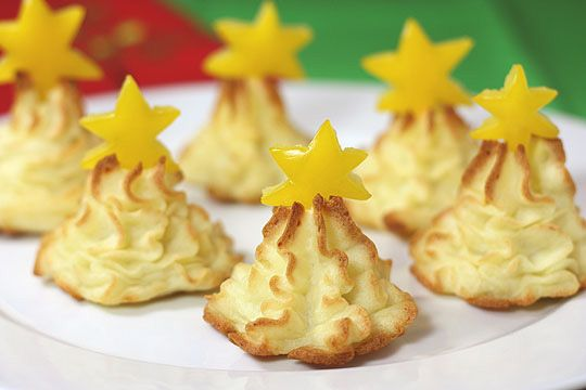 Fun idea for Christmas. Mashed potato trees. #Christmas #kerst #kerstdiner #kinderen