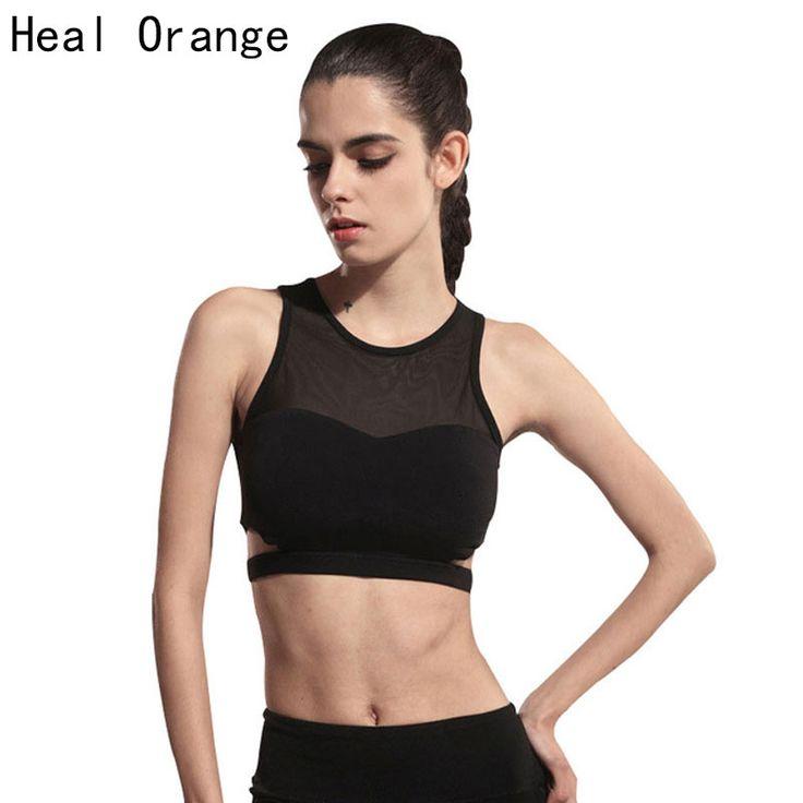 HEAL ORANGE Women Sports Bra Yoga Shirts Shockproof Running Sports Bra Tops Woman Underwear Fitness Gym Tanks Vest Crop Top