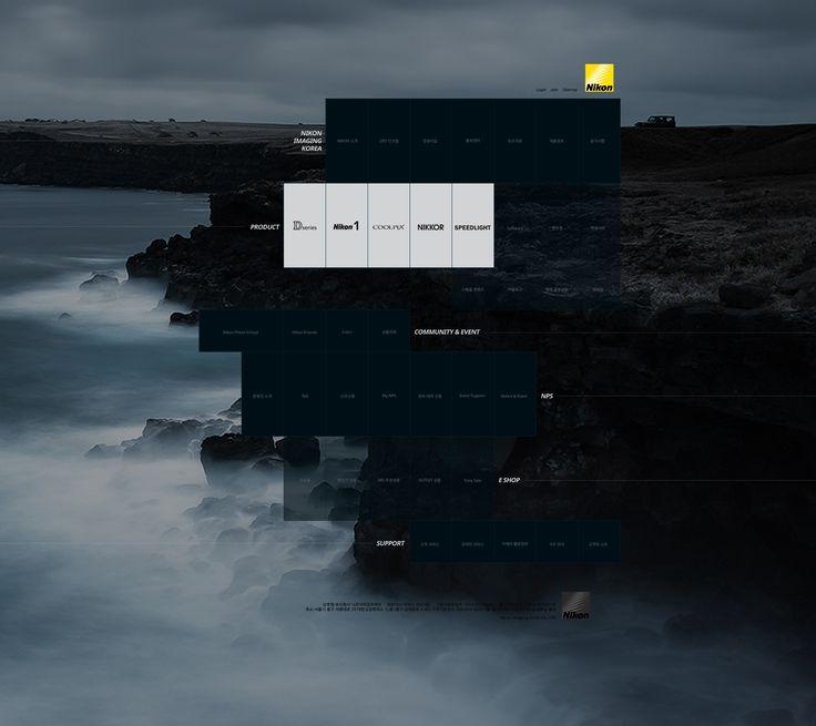 욱스웹디자인아카데미-Nikon redesign - Design by Lim-hyeran