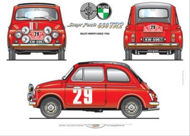 Historic Rally & Classic Race Cars: Steyr-Puch - o Pequeno Notável