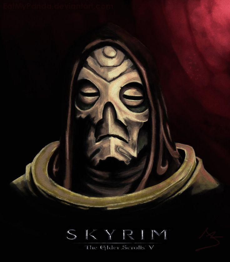 Skyrim Fan Art (Krosis Mask) by EatMyPanda