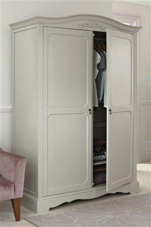 isabella grey large wardrobe french style home. Black Bedroom Furniture Sets. Home Design Ideas