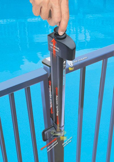 Magna Latch Magnetic Pool Safety Gate Latches Glass Pool