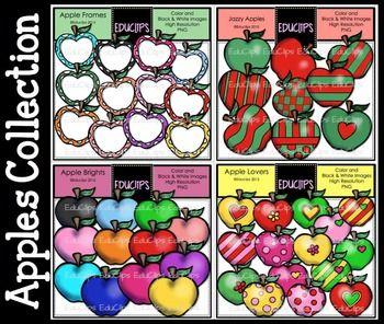 Apples Collection Clip Art Bundle