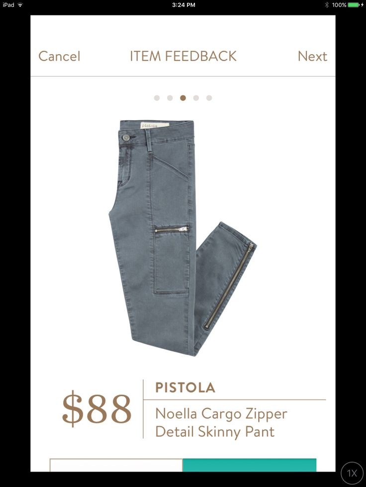 Molly- if they're like the other Pistola, I'd love to try them! Pistola Noella Cargo Pants