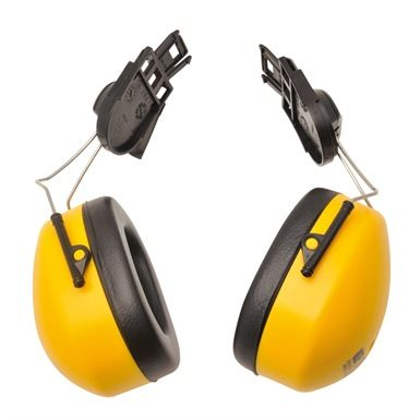 Portwest PW42 Clip on Ear Protectors have acoustic foam filled cups that offer excellent attenuation to SNR 23dB. Compatible with PW55, PW50, PW51 & PW57 hard hats.http://mammothworkwear.com/en397-safety-helmets/