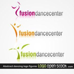 Abstract Dancing Logo Figures
