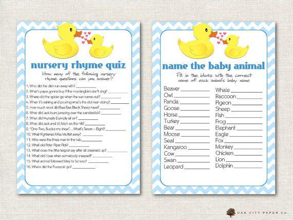 Rubber Ducky Baby Shower Games Rubber Duck by OakCityPaperCompany