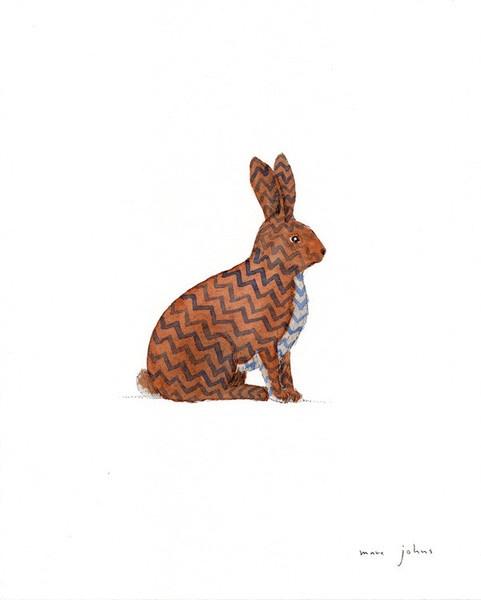 zig zag rabbit  by Marc Johns: Zig Zag, Buy Zig, Rabbit Throw, Rabbit Art, Marc John, Bunnies Rabbit, Products, Zag Rabbit