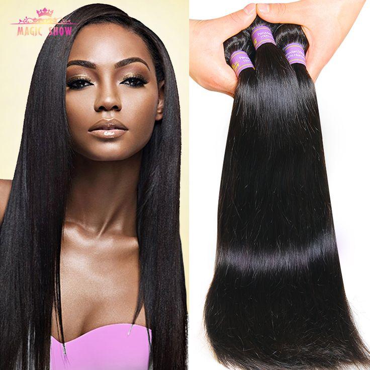 Gem Beauty Supply Brazilian Straight Hair 3 Bundles Real Human Hair