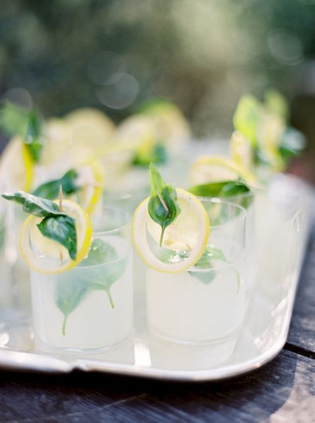 pretty garnishes for summer drinks (for the pre-ceremony drinks maybe?)