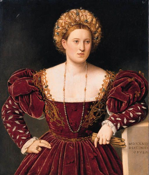 Bernardino Licinio (1489-1565) Portrait of a Lady. Dated on the plinth 1532 #renaissance