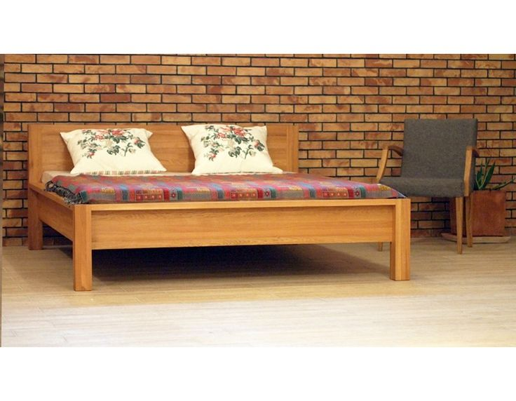 Manželská dubová postel