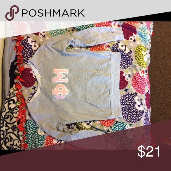 Phi Mu sweatshirt Scoop neck phi mu lettered sweatshirt. Very soft! Tops Sweatshirts & Hoodies