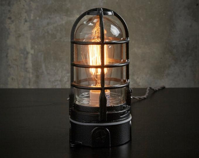 Industrial Edison Desk Lamp Touch Lamp Steampunk Lights Etsy Touch Lamp Lamp Vintage Table Lamp