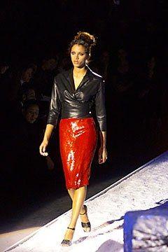 Badgley Mischka Fall 2000 Ready-to-Wear Fashion Show - Noémie Lenoir, Mark Badgley