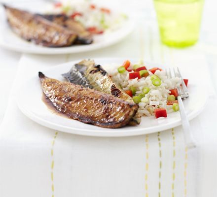 Grilled mackerel with soy, lime & ginger recipe - Recipes - BBC Good Food