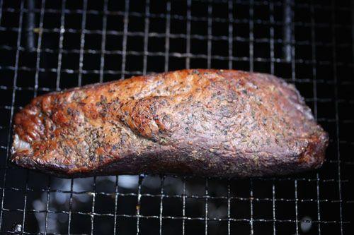 ピチットシートで1日で仕込む牛肉ブロックジャーキー燻製