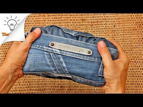 Un astuce simple pour bien plier ses jeans et gagner de la place dans la valise - Astuces de grand mère