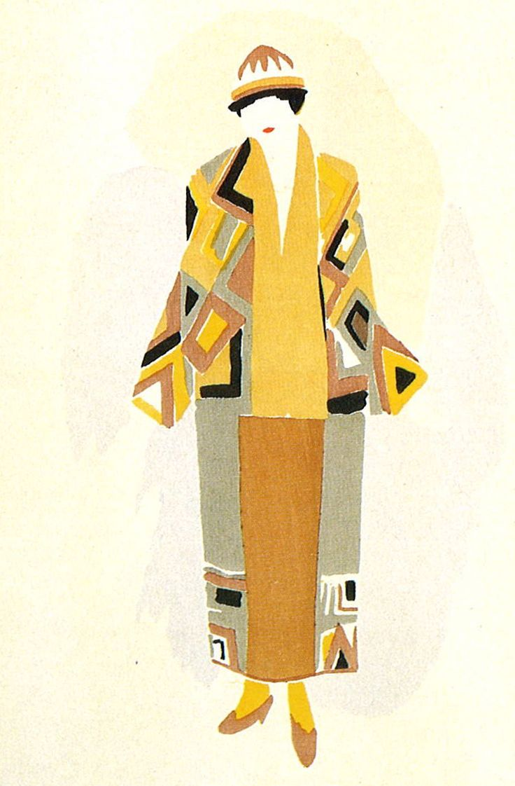 Sonia Delaunay - Projects for Dresses, 1924-1925  Against Fashion: Clothing as Art, 1850-1930, Plate 45 Radu Stern The MIT Press, 2004