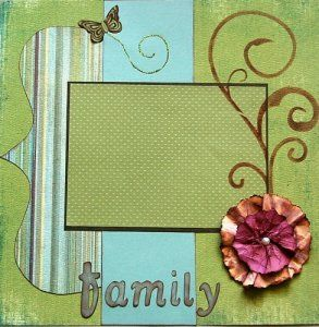 cute scrapbook page idea- first pin- trying it out:)