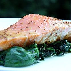 Salmon with Honey Mustard Glaze | Cooking and drinking / Cocina. | Pi ...