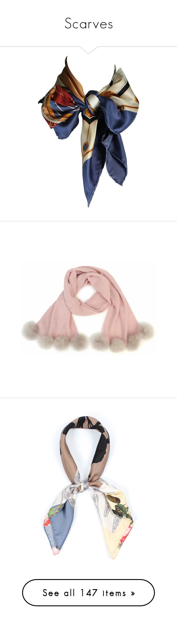 """Scarves"" by florymcintee ❤ liked on Polyvore featuring accessories, scarves, fillers, jewelry, lightweight scarves, nautical scarves, lightweight shawl, silk scarves, louis vuitton scarves and bamboo scarves"
