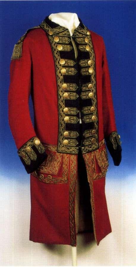 18th cent British military uniform.