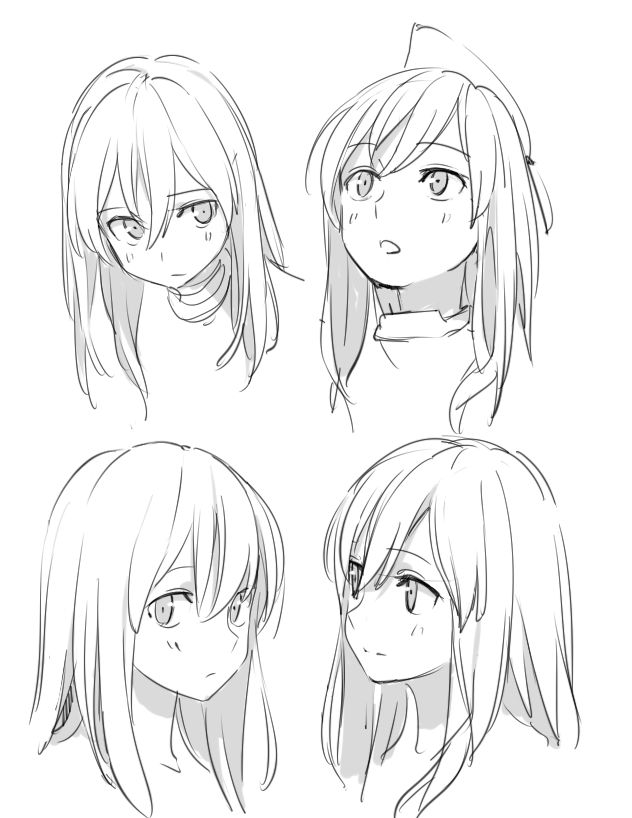 anime face drawing ideas