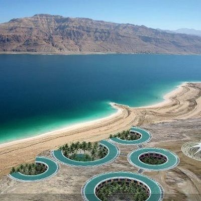 PALESTINE  Dead Sea Beaches.  What an absolutely glorious view!