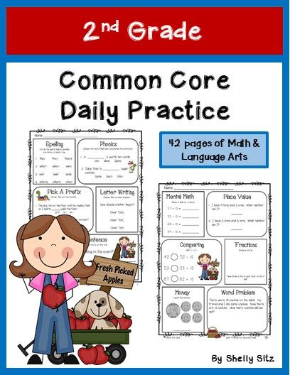 This Daily Practice for Second Grade is ideal to use for morning  work, homework, or seat work during Universal Access time. This packet is designed to meet the needs of a beginning second grade student who needs review of first grade standards and becoming familiar with the new skills of second grade.