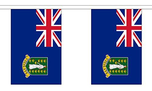 GIZZY British Virgin Islands 3m bunting 10 flags 3 metre length of 100% polyester bunting, screen printed in bold, clear colours with a strong polyester tape, 10 flags per length. Size of flags 9x6 (22.5 x 15 cm). O (Barcode EAN = 5056021607563) http://www.comparestoreprices.co.uk/december-2016-6/gizzy-british-virgin-islands-3m-bunting-10-flags.asp