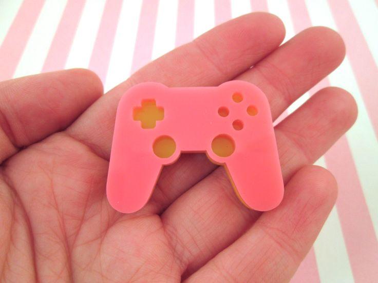 Laser Cut Acrylic Game Controller Cabochon