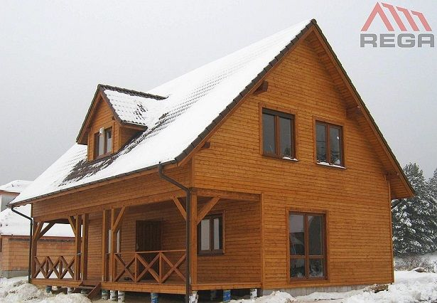 projekt domu drewnianego - Ranczo #dom #drewniany dom #architektura