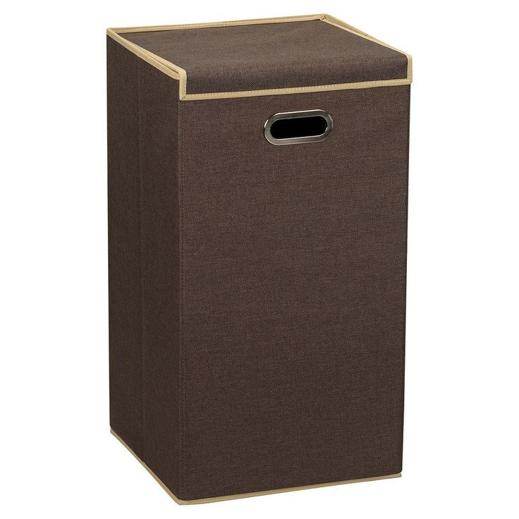 Household Essentials Laundry Hamper with Lid, Brown