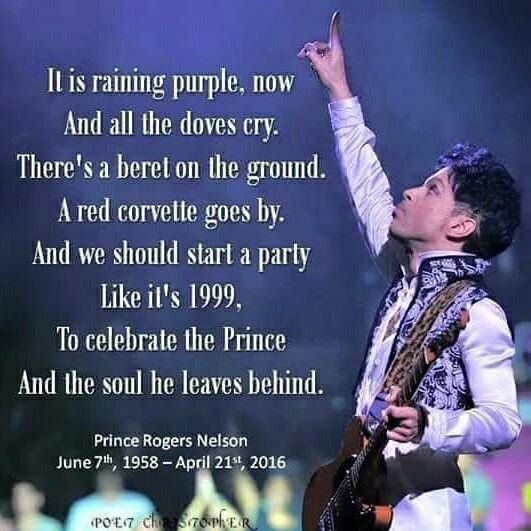 Prince Rogers Nelson We love you ... Rest In Purple