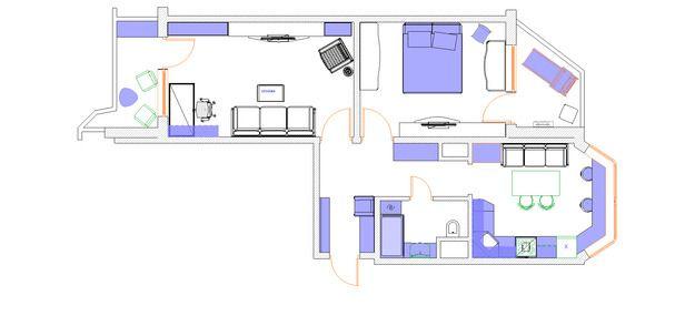 Фотография: Планировки в стиле , Квартира, Дома и квартиры, Перепланировка, дом…