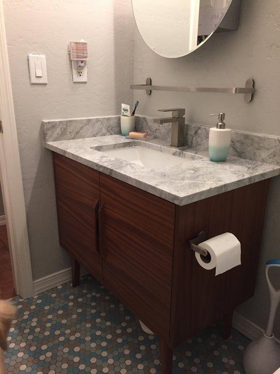 New Hand Built Mid Century Style 36 Bathroom Vanity In Etsy In 2020 Bathroom Vanities For Sale 36 Bathroom Vanity Custom Bathroom Vanity