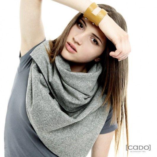 Szal Komin Tuba Etola - Tweed HERRINGBONE