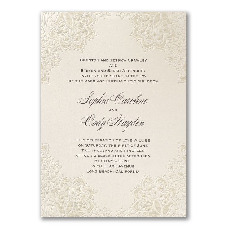 30 best Ivory Wedding Invitations images on Pinterest | Ivory ...