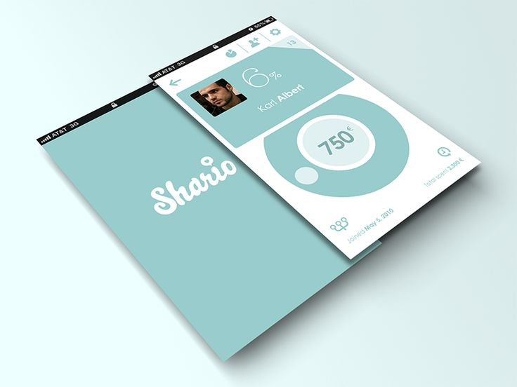 Shario Mobile App UI Design