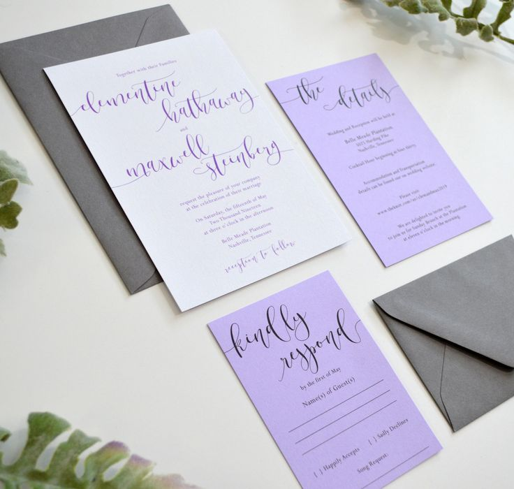 the 25 best lavender wedding invitations ideas on pinterest kraft wedding invitations lilac bouquet and wholesale flowers near me - Lavender Wedding Invitations