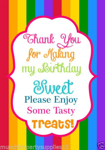Paper-4-Girls-Rainbow-Birthday-A5-Candy-Buffet-Lolly-Sign                                                                                                                                                                                 More