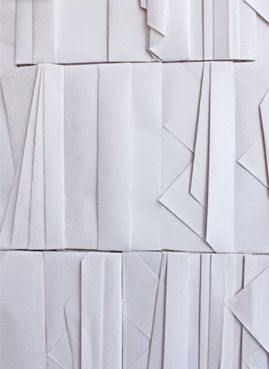 white folded wall