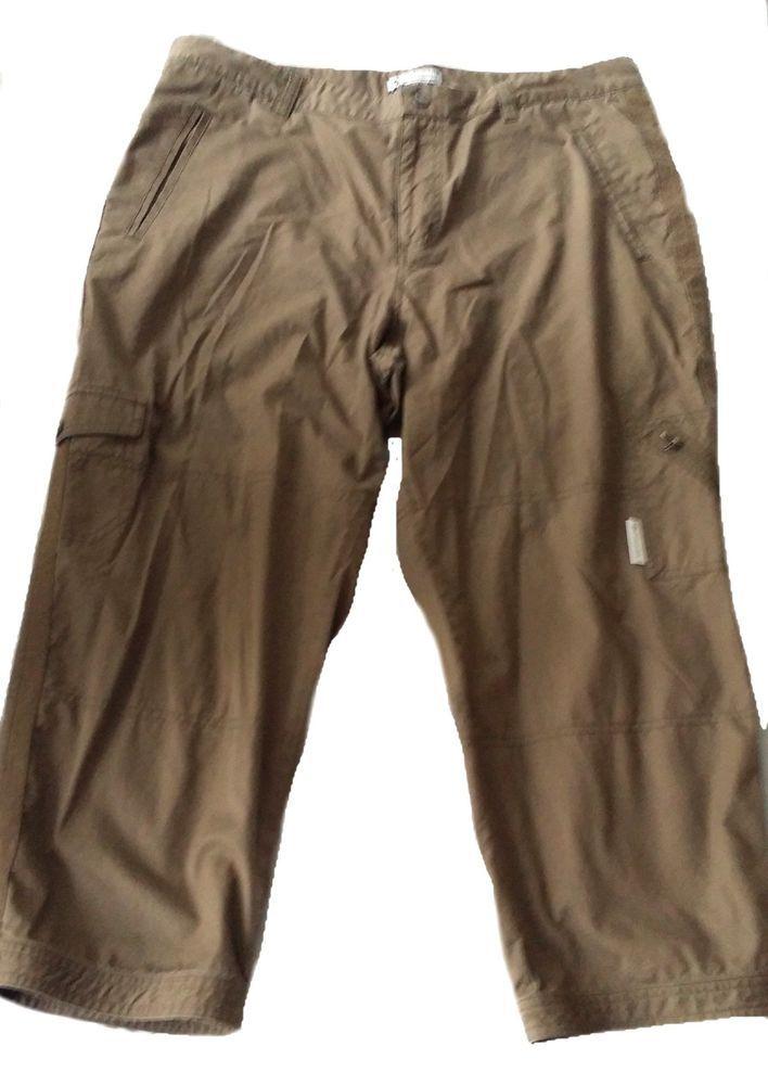 How To Hem Pants With A Cuff Columbia Women S Cotton Cargo Crop Pants Snap Button Cuff Hem Size 14 Columbia Cargo Hikingcasual Cargo Pants Cropped Pants Pants