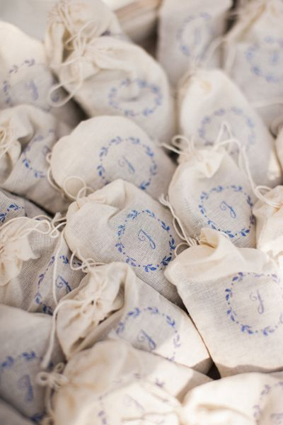 lavender sachets for guests | repin via: southern weddings