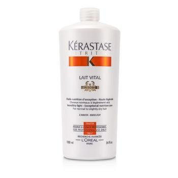 Nutritive Lait Vital Incredibly Light - Exceptional Nutrition Care (For Normal to Slightly Dry Hair) - 1000ml-34oz